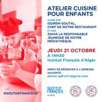 """Jeune public """"atelier cuisine"""" - Sur réservation"""