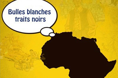 BULLES BLANCHES TRAITS NOIRS.