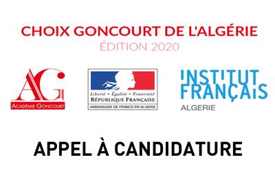 Choix Goncourt de l'Algérie - APPEL A CANDIDATURE