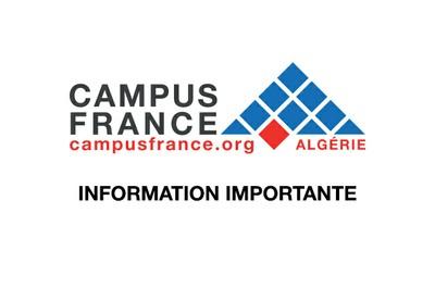 Information importante Campus France
