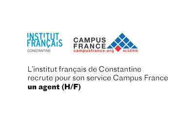 L'Institut français de Constantine recrute un agent Campus France