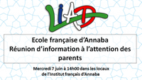 École française d'Annaba : réunion d'information à l'attention des parents