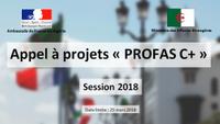 Appel à projets de partenariat institutionnel Algéro-français PROFAS C+ 2018