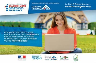 1er salon en ligne des études en France: le nouveau concept de Campus France Algérie
