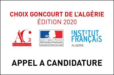 APPEL A CANDIDATURE - Choix Goncourt de l'Algérie
