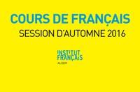 Cours de français - Session d'automne 2016