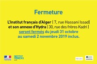 Fermeture (1er novembre)