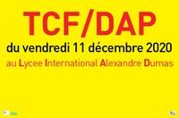 important - changement d'adresse épreuves TCF-DAP du 11 décembre 2020