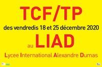 IMPORTANT  Changement d'adresse épreuves TCF version papier du 18 et 25  décembre