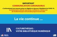 """IMPORTANT : COMMUNICATION CORONAVIRUS LA VIE CONTINUE """"en ligne"""" ..."""