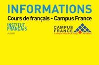 Informations Cours de français - Examens - Tests - Campus France ...