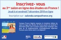 INSCRIVEZ- VOUS AU 3ÈME SALON EN LIGNE DES ÉTUDES EN FRANCE !