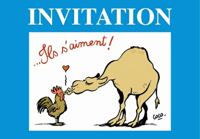 Invitation au vernissage de l'Exposition France-Algérie: Dessins de presse