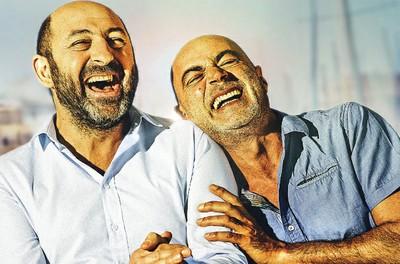 """Soirée d'inauguration.  Lancement du nouveau système de projection numérique DCP. Présentation du film """"Marseille"""" - En présence de Kad Merad et Patrick Bosso"""
