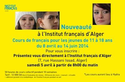 Nouveau à l'Institut français d'Alger !