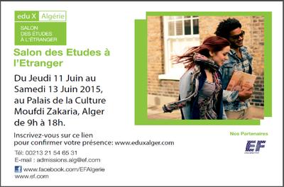 Salon des études à l'étranger « eduX Algérie ». 2ème édition