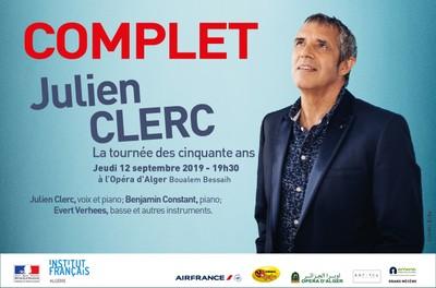 JULIEN CLERC  « LA TOURNEE DES CINQUANTE ANS » à l'Opéra d'Alger