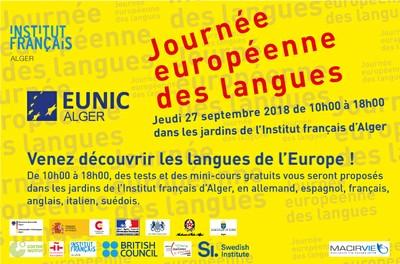 Journée européenne des langues jeudi 27 septembre 2018 de 10h00 à 18h00
