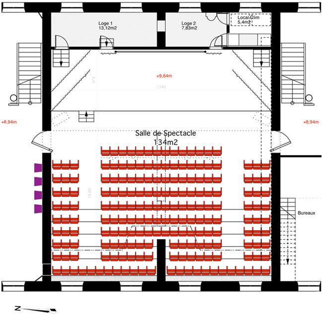 Plan de la salle de spectacle