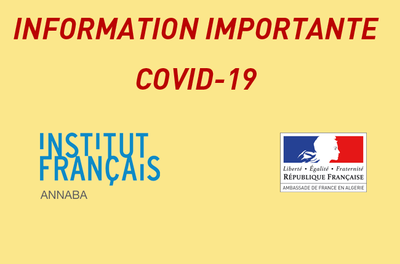 INFORMATION IMPORTANTE COVID-19