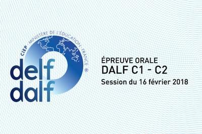 épreuve orale - DALF C1 - C2 - février 2018