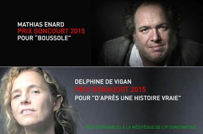 Les Prix Goncourt et Renaudot 2015 déjà disponibles à la médiathèque !