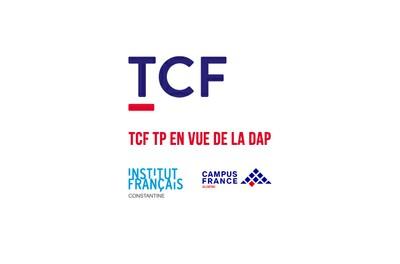 TCF TP EN VUE DE LA DAP