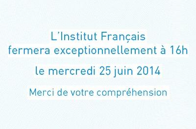 Fermeture Exceptionnelle de L'Institut Français d'Oran