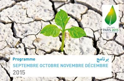 Programme Septembre Octobre Novembre Décembre 2015