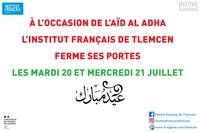 Fermeture de l'IF Tlemcen / AÏD AL ADHA
