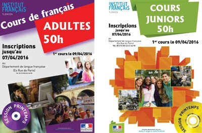 Inscriptions au cours de français session printemps 2016